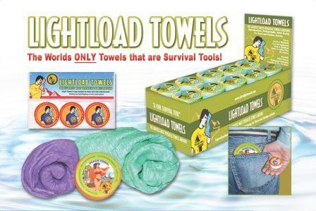 lightload towels for survival